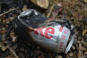 Burnt Diet Coke Can by DingRawD
