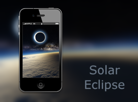 Solar Eclipse iPhone Wallpaper by biggzyn80