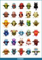 30 Polymer Clay DRAGONS - Final Edition by buzhandmade