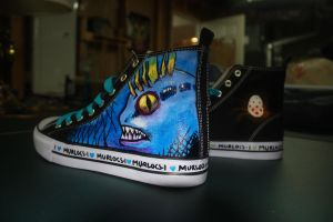 Murloc Shoes Left Side by Harpo-exe