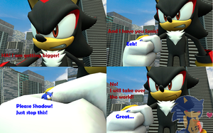Giant Shadow caught Sonic comic by LoveShadowSonic