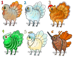 Adoptable Turkey Things by ADYNAMICA
