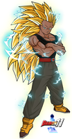 Mike SSJ3 for Gamerxboy by Dairon11