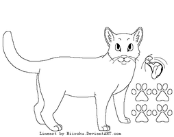 Free Cat Lineart by Miiroku