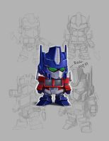 SD Optimus Prime style test by geeshin