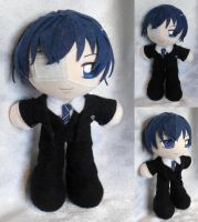 Mini Plushie, Ciel Phantomhive, Weston College by ThePlushieLady