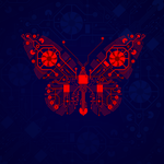 Electronic Butterfly by Dobrotek