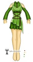Saria Costume Design Concept by VoidQueenElishiva