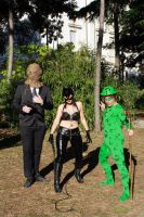 riddler catwoman e scarecrow by LordJoker88