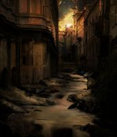 Venetian river by Pencil-guy