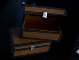 Just A Couple Wooden Minecraft Chests by Digital--Quill