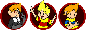 Mother 3 Badges by FizTheAncient