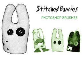Stitched Bunnies Brushes by InvisibleSnow