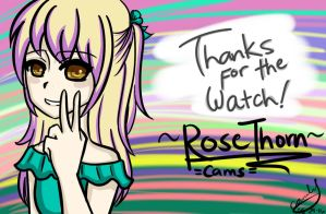 Thanks For The Watch|For my watchers~ by rosethorncams14