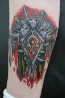 Horde Shield Tattoo by Lucky-Cat-Tattoo