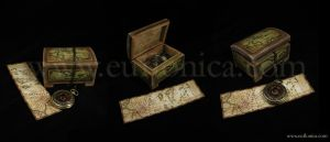 Pirate box and bookmark by Euflonica