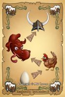 Drinking Viking party game - card: Dragon by CrioArts