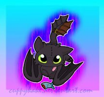 Toothless by cuppykake