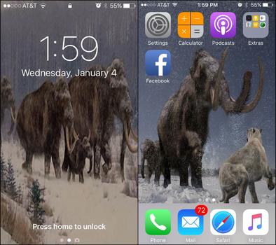 My Iphone- Mammoth Wallpaper (1/4/2017) by Dinodavid8rb