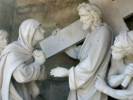 Stations: Jesus Meets Mother by gwalcheved