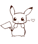 Pikachu Lineart by IntoxicatedFromYou
