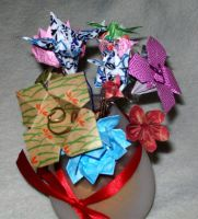 origami bouquet by arockat