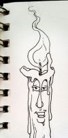 Candle Guy Sketch by martianink