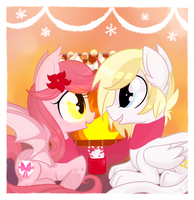 Cocoa by the Fireplace by Hollulu