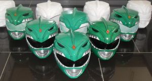 Green ranger replica helmets i made by matt3335