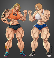 Amber Vs Liz By Trent Harlow by This-Cat-Has-Claws