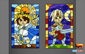 Royal Revolt II Stained Glass by Serah-Farron
