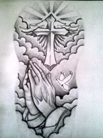Half sleeve tattoo design by MontyKVirge