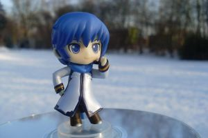 Kaito in the snow by Mako-chan89