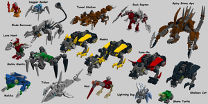 Micro-Bionicle -- Rahi Batch 2 Complete Set by bonesiii