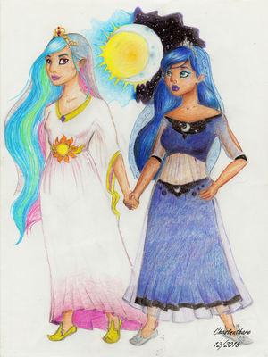 Two Regal Sisters by chestnuthare