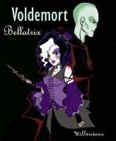 Bellatrix and Voldemort by Willowsama