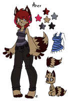 Anet Fursona Ref :OLD: by UnknownSpy