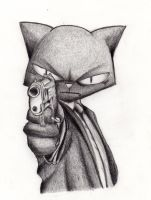 CAT GANGSTER by Jigsawlacrimosa