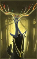 Forest of Xerneas by GlitchedVirus