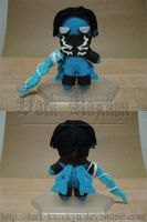 Tiny Raziel plushie by Kazekyn