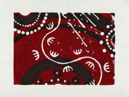 Aboriginal Linocut Alternate by Snashyle