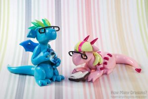 Little Hipster Dragons by HowManyDragons