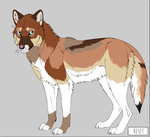 Wolf Adoptable by Broadwinger
