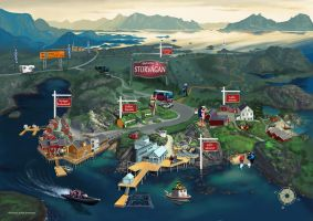 New pictorial map by KenJeremiassen
