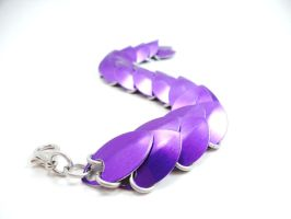 Purple Dragon Scale Bracelet - Simple by SerenityinChains