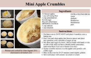 Mini Apple Crumble Recipe by claremanson