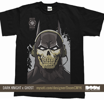 Dark Knight x Ghost Shirt by DoomCMYK