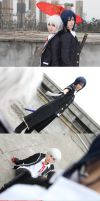 K : Isana Yashiro and Yatogami Kuroh by Ray-DDDDD
