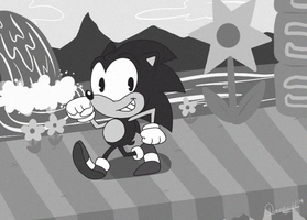 50s Sonic Walking by Domestic-hedgehog