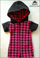FS: Pink+Black Houndstooth Hoodie by kuroi-carousel